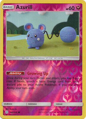 Pokemon SM - Cosmic Eclipse Azurill 146/236 Common Reverse NM