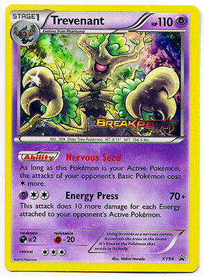 Trevenant XY94 Holo Prerelease Breakpoint Pokemon Card NM+ With Tracking