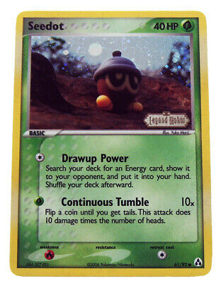 Seedot 61/92 Reverse Holo EX Legend Maker Stamped Pokemon Card NM+ W/ Tracking