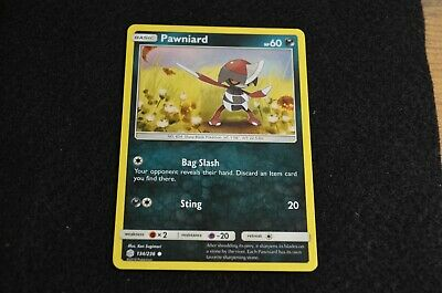 Pokemon PAWNIARD Sun & Moon Cosmic Eclipse 134/236 NM/Mint