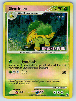 Off-Center Reverse Holo Diamond Pearl Grotle 49/130 Pokemon Error Card