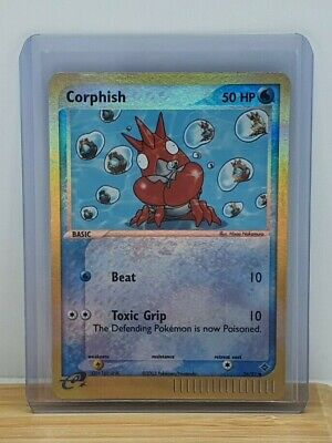 Corphish Reverse Holo / Shiny Pokemon TCG Card EX Dragon 54/97 Moderate Play