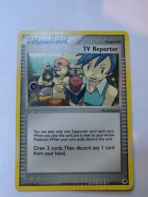 Pokemon Card TCG EX Dragon Frontiers TV Reporter 82/101 Trainer Uncommon x 1