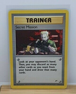 Secret Mission Non Holo Rare Pokemon TCG Card Gym Heroes 118/132 2000 Light Play