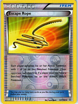 Primal Clash Escape Rope 127/160 Reverse Holo Trainer Pokemon Card LP