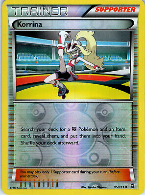 Furious Fists Korrina 95/111 Reverse Holo Pokemon Trainer Trading Card LP