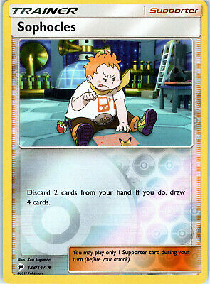 Burning Shadows Sophocles 123/147 Reverse Holo Pokemon Trading Card LP NM
