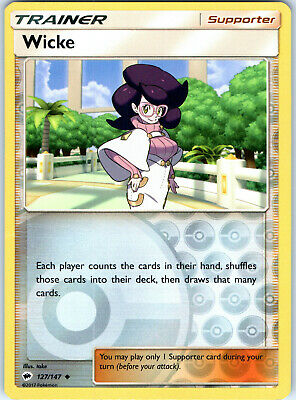 Burning Shadows Wicke 127/147 Reverse Holo Pokemon Trading Card LP NM