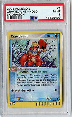 Pokemon - Crawdaunt (3/97) - Holo Rare - EX Dragon [PSA 9]