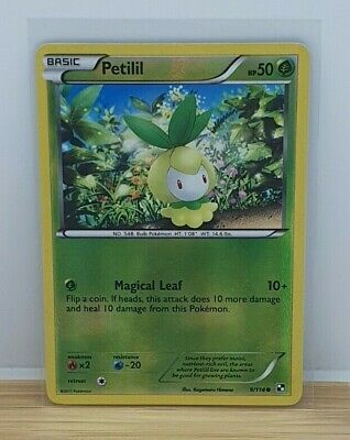 Petilil Reverse Holo Shiny Pokemon TCG Card Black White Base Set 9/114 NEAR MINT