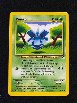 2001 Pokemon Neo Discovery Pineco 61/75 Common