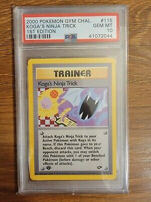 2000 Pokemon Gym Challenge First 1st Edition PSA 10 Koga's Ninja Trick #115 WOTC
