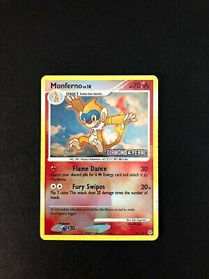 Monferno - 56/130 - Diamond & Pearl Stamp - Reverse Holo CREASED - Pokemon TCG