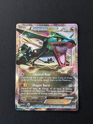 Pokemon - Rayquaza EX - 85/124 - Black White BW - Dragons Exalted - Ultra Rare