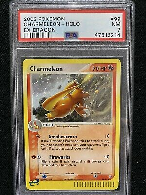 2003 Pokemon EX Dragon Charmeleon Holo 99/97 PSA 7 NM