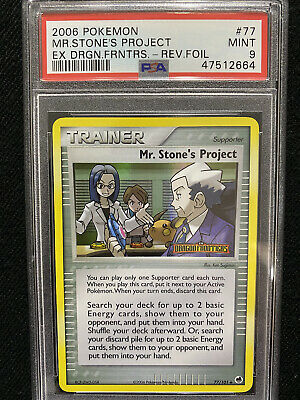 Pokemon EX Dragon Frontiers Mr. Stone's Project Reverse Foil 77/101 PSA 9 Mint
