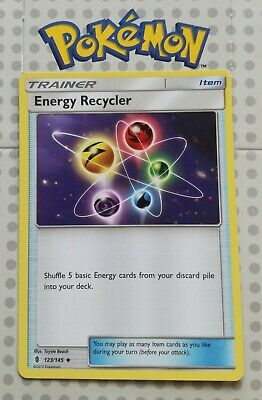 Pokemon card Energy Recycler 123/145  Trainer Uncommon Guardians Rising MINT