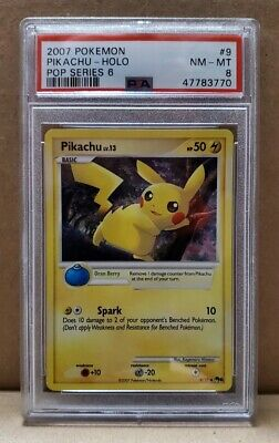 2007 Pop Series Holo 6 (pokemon Organized Play) 9/17 9 Pikachu Holo Psa 8