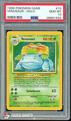 PSA 10 Venusaur Pokemon Unlimited Base Set 15/102 GEM MINT