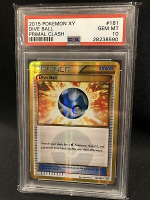 Dive Ball 161/160 XY Primal Clash Secret Rare PSA 10 Pokemon