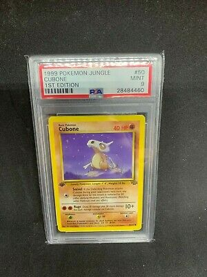 1999 1st Edition Cubone PSA 9 Jungle #50/64 Mint Rare MINT Vintage Pokemon Card