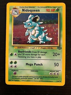 1999 Pokemon - Nidoqueen - Holo Rare - Jungle - 7/64