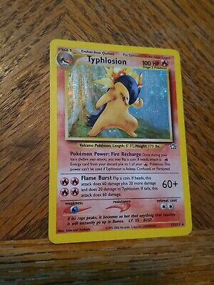 Typhlosion 17/111 Neo Genesis Pokemon Card  1999/2000 played condition *RARE*
