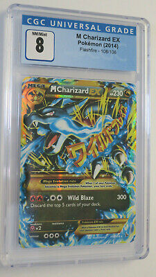Pokemon TCG - M Charizard EX - Flashfire 108 - CGC 8