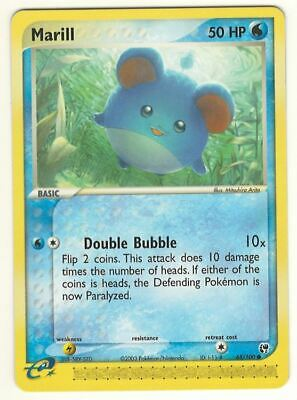 Pokemon Marill 68/100 Ex Sandstorm Card - Near Mint / Mint - Look !!!!