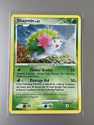 Pokemon Card Platinum Set Shaymin Holo Rare 14/127