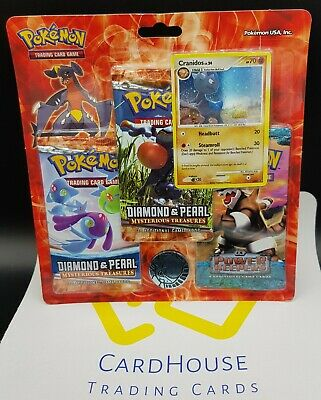 3 Pack Pokemon Blister Set Booster Ex Power Keepers Factory Sealed Aggron