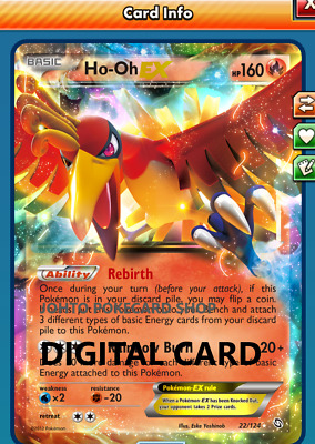 Ho-oh EX Dragons Exalted Digital Pokemon TCG Online code FAST DELIVERY