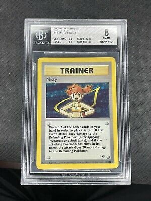 Misty 18/132 Gym Heroes Unlimited Holo Rare Trainer Pokemon 2000 Bgs 8