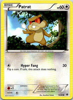 Patrat 78/98 Common Regular Pokemon Card Emerging Powers Light Play