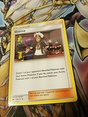 Guzma 115/147 Trainer Uncommon Burning Shadows Pokemon