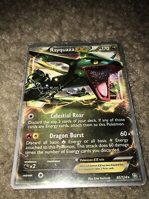 RAYQUAZA EX 85/124 Ultra Rare Pokemon Card BW Dragons Exalted Near Mint
