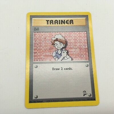 Trainer Bill Pokemon Card 118/130 Base Set 2 Mint Condition