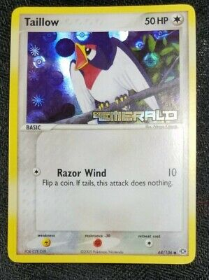 Taillow Reverse Holo STAMPED (EX Emerald 68/106) Pokemon TCG--NM