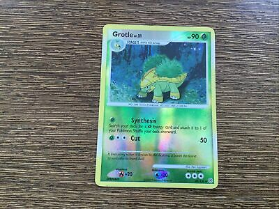 Grotle 49/130 Uncommon Diamond & Pearl Pokemon Card NM reverse