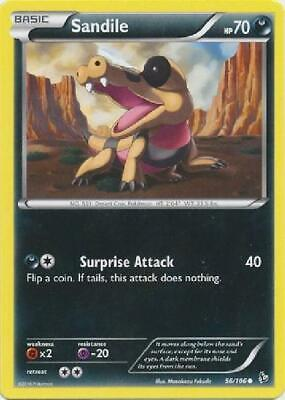 6x Sandile - 56/106 - Common NM Pokemon XY Flashfire