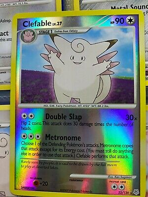 Pokemon Card Clefable 22/130 Reverse Holo Diamond And Pearl near mint!