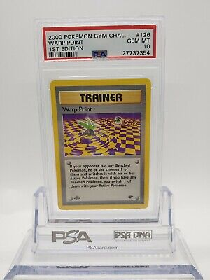 Pokemon Gym Challenge 1st Edition Warp Point 126 - PSA 10 GEM MINT