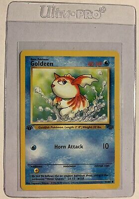 Vintage Pokemon Card Jungle 1st Edition Goldeen 53/64 Non Holo 🔥