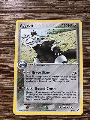 Pokemon Legend Maker aggron 2/92 holo rare MINT condition 2006