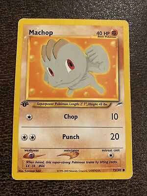 Pokemon Card Machop Neo Destiny 1st Edition - Lightly played