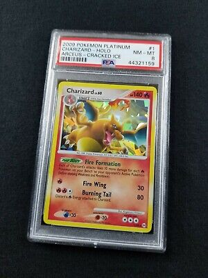 Pokemon Card Cracked Ice Holo Charizard 1/99 PSA 8 NM-MT Platinum Arceus