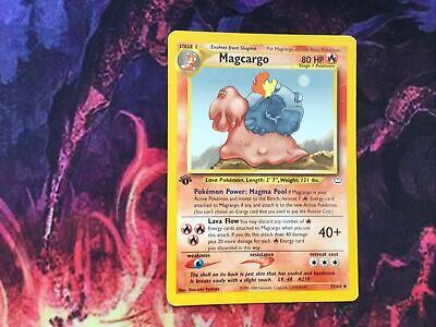 Magcargo 1st Edition 33/64 - Neo Revelation Pokemon Card played