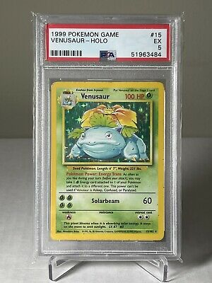 1999 Pokemon Base Set Venusaur 15/102 PSA 5 EX card
