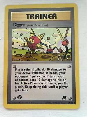 NM (1st edition) Pokemon DIGGER Card TEAM ROCKET 75/82 -ShowYourCards-