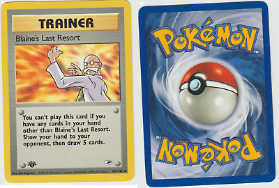 Tracking Pokemon 1st Edition Gym Heroes Blaine's Last Resort 105/132